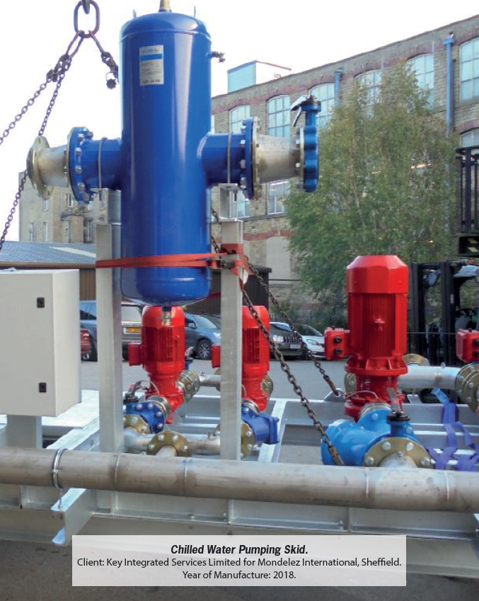 Chilled Water Pumping Skid, Installed 2018