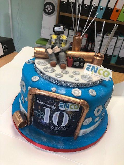 10 Year Anniversary Cake By Saf Sprinkles