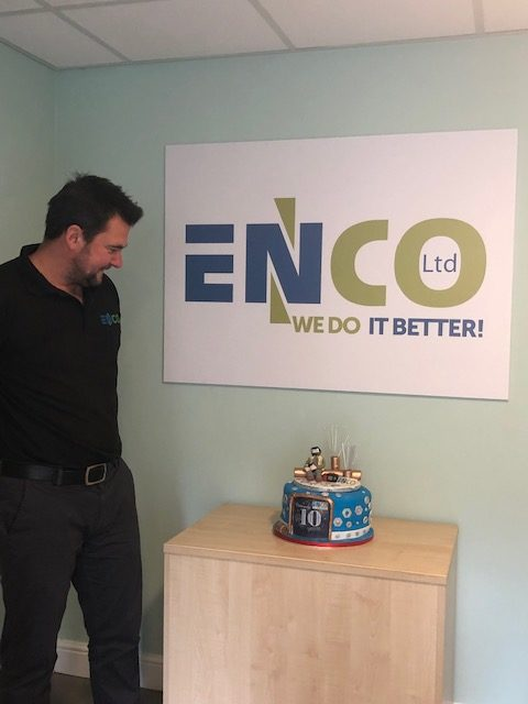 Commercial director and 10 year birthday cake