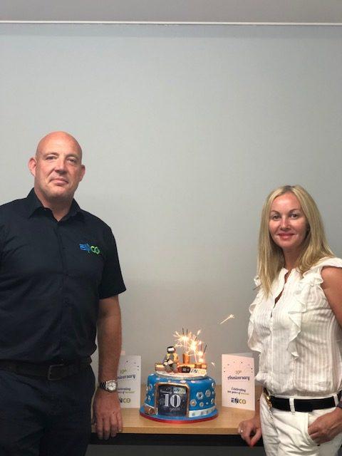 Directors and 10 year birthday cake