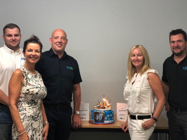 Company Directors and 10 year birthday cake