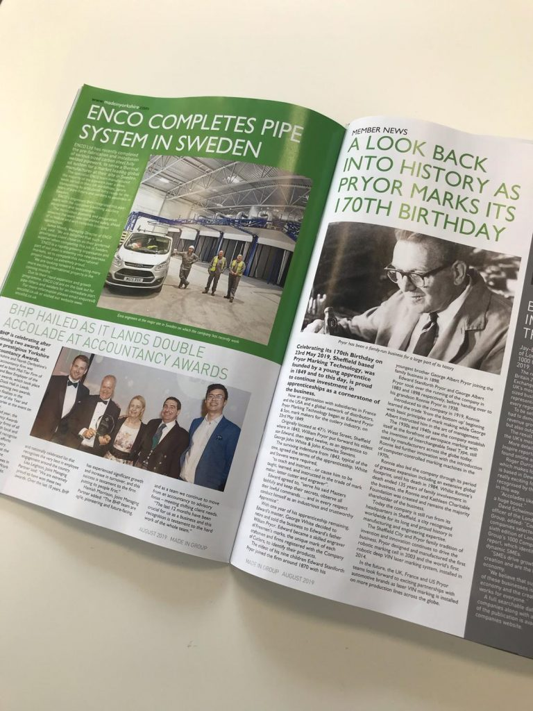ENCO Feature in Made in Yorkshire's magazine