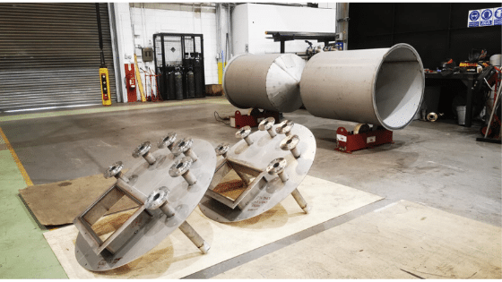 Chemical Break Tanks, fabricated by our Fabrication Charge-hand, Jason Rodgers